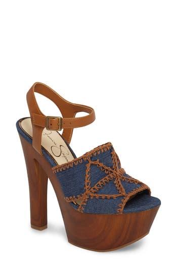 Jessica Simpson Dezzie Platform Sandal- Blue