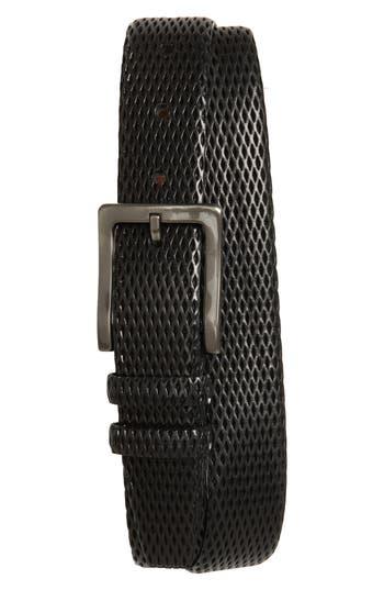 Big & Tall Torino Belts Embossed Leather Belt, Black