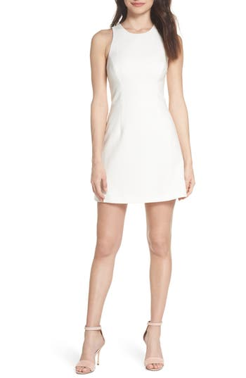 French Connection V-Back Tank Dress, White