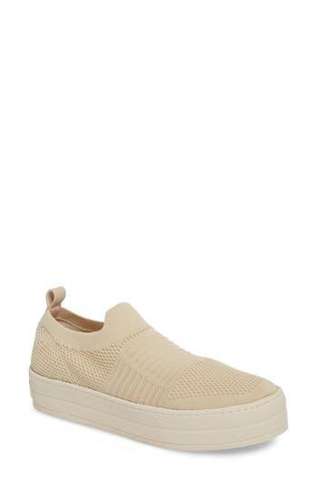 Jslides Hilo Platform Slip-On Sneaker, Beige