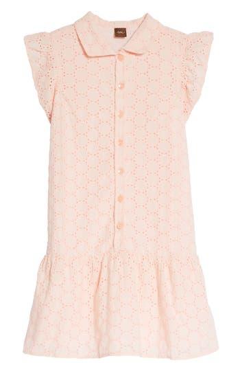 Vintage Style Children's Clothing: Girls, Boys, Baby, Toddler Toddler Girls Tea Collection Eyelet Woven Dress Size 3T - Pink $69.50 AT vintagedancer.com