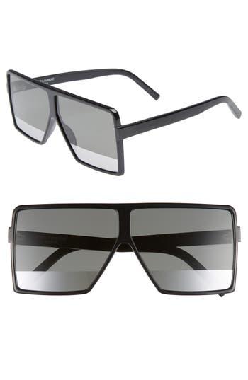 6b1634fbb2b7 Saint Laurent Sl 183 Betty 63Mm Acetate Two-Tone Shield Sunglasses, Black