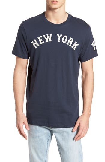 47 Mlb Vintage Fieldhouse New York Yankees T-Shirt, Blue