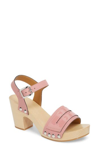 Hunter Refined Penny Loafer Clog Sandal, Pink
