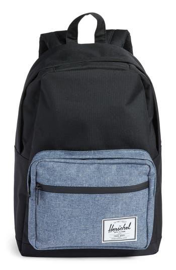 Herschel Supply Co. Pop Quiz - Chambray Backpack - Black
