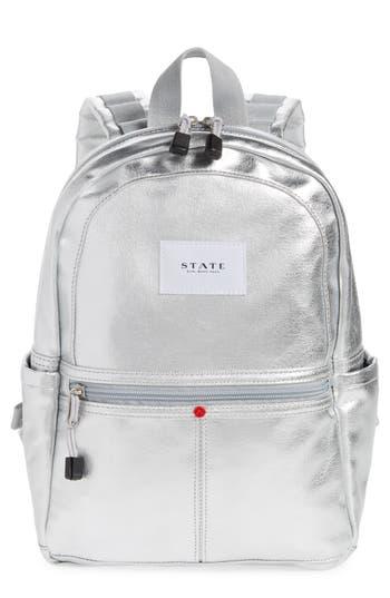 State Bags Downtown Mini Kane Canvas Backpack - Metallic