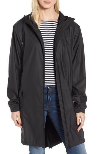 Kristen Blake Hooded Rain Topper Jacket, Black