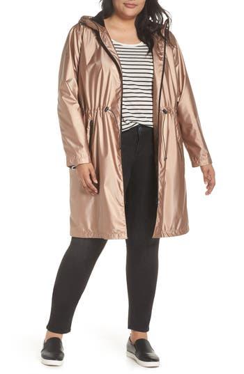 Plus Size Bernardo Metallic Rain Jacket, Pink