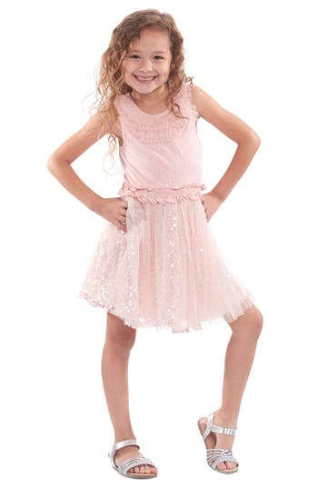 1920s Children Fashions: Girls, Boys, Baby Costumes Toddler Girls Truly Me Sequin  Ruffle Dress Size 2T - Pink $26.40 AT vintagedancer.com
