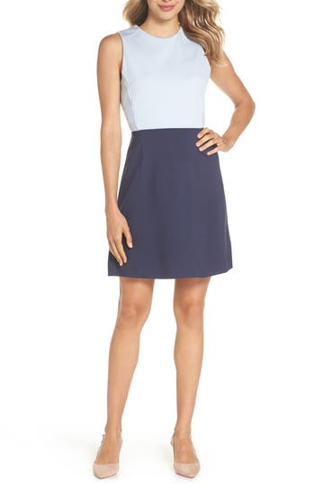 French Connection Sundae Colorblock Dress, Blue