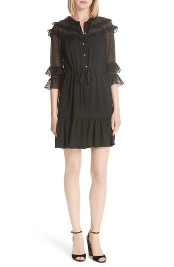 Rebecca Taylor Silk Georgette Dress, Black