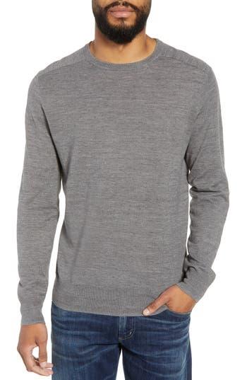 J.crew Cotton Blend Crewneck Sweater, Grey