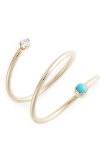 Zoe Chicco Turquoise & Diamond Wrap Ring