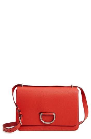 Burberry Medium D-Ring Leather Crossbody Bag - Red