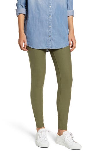 Hue Denim Leggings, Green