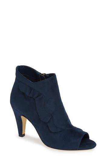 Bella Vita Nicolette Ruffle Dress Bootie, Blue