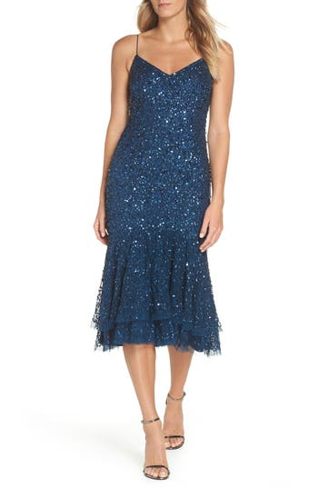 Great Gatsby Dress – Great Gatsby Dresses for Sale Womens Adrianna Papell Beaded Ruffle Hem Sheath Dress $249.00 AT vintagedancer.com