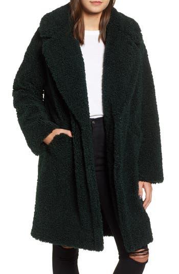 Faux Fur Teddy Coat, Jade