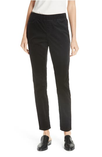 Eileen Fisher Stretch Corduroy Leggings, Black