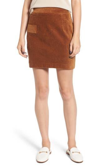Heartloom Lindy Corduroy Miniskirt, Brown