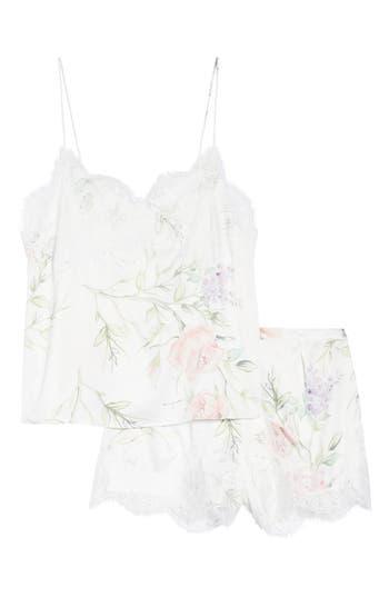HOMEBODII Sofia Short Pajamas in Purple Floral