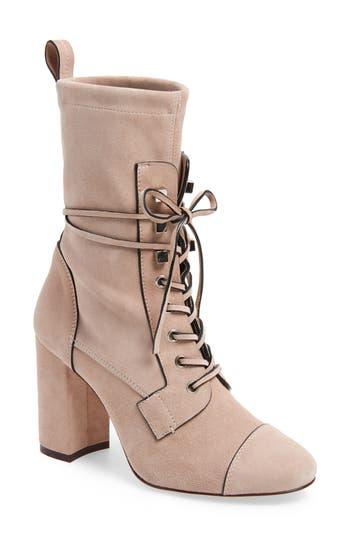 Stuart Weitzman Veruka Lace-Up Boot, Pink