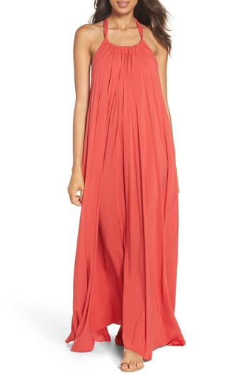 Elan Cover-Up Maxi Dress, Coral