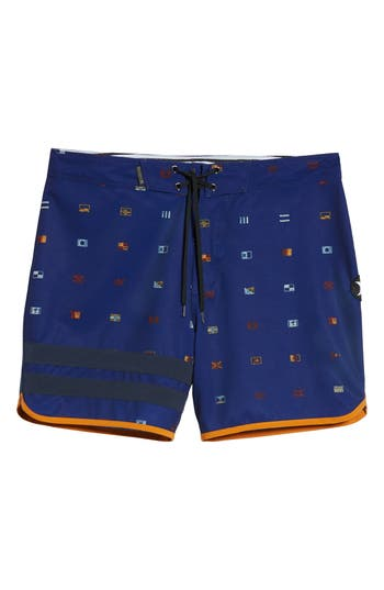 Hurley Phantom Block Party Board Shorts, Blue