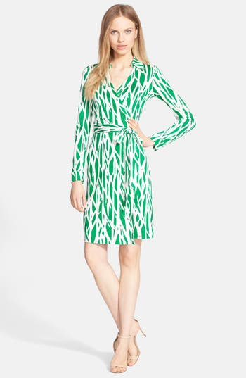 Women's Diane Von Furstenberg 'New Jeanne Two' Print Silk Wrap Dress