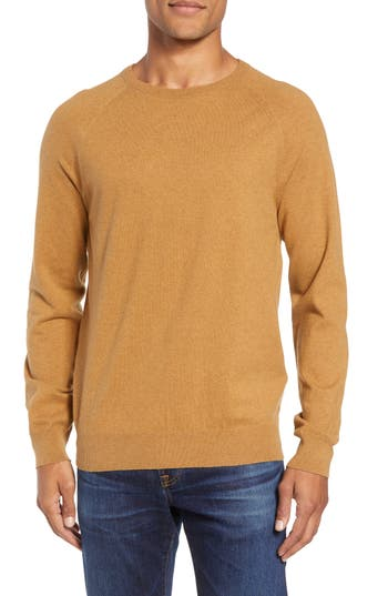 French Connection Regular Fit Stretch Cotton Crewneck Sweater, Brown
