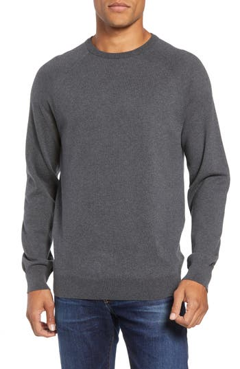 French Connection Regular Fit Stretch Cotton Crewneck Sweater, Grey