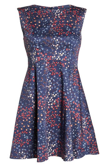French Connection Frances Cotton Dress, Blue