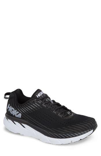 Hoka One One Clifton 5 Running Shoe, Black