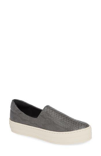 Jslides Harlow Slip-On Platform Sneaker- Grey