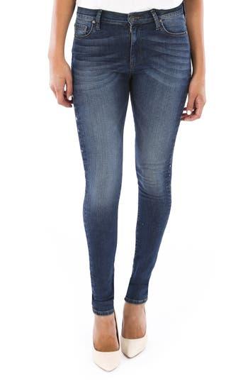 Mia Embellished High Waist Skinny Jeans, Grounding