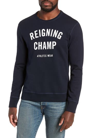 Reigning Champ Gym Logo Sweatshirt, Blue