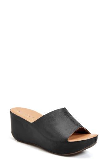 Kork-Ease Greer Wedge Slide Sandal, Black