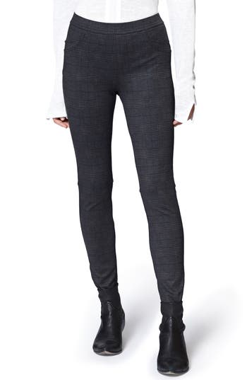 Sanctuary Grease Plaid Leggings, Grey