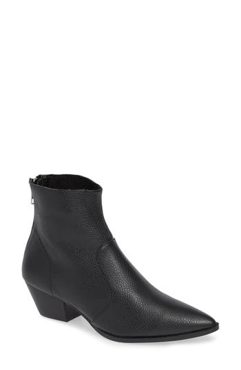 Cafe Boot, Black Leather