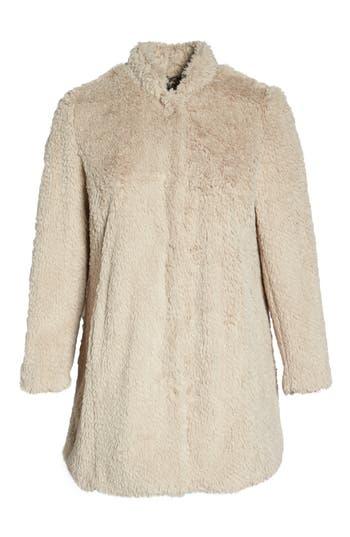 1940s Coats & Jackets Fashion History Plus Size Womens Kenneth Cole New York Original Teddy Faux Fur Coat $109.90 AT vintagedancer.com