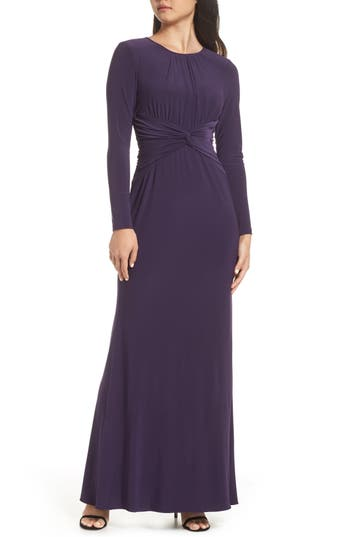 1930s Evening Dresses | Old Hollywood Dress Womens Adrianna Papell Twist Waist Knit Dress $169.00 AT vintagedancer.com
