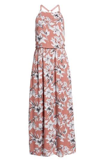 Roxy Pavement Border Maxi Dress, Pink
