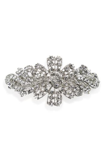 Vintage Hair Accessories: Combs, Headbands, Flowers, Scarf, Wigs Tasha Floral Crystal Barrette $32.00 AT vintagedancer.com