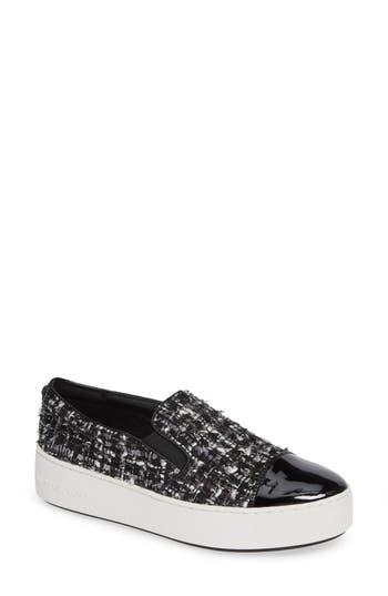 Tia Slip-On Platform Sneaker, Black/ Silver