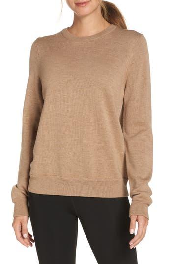 Icebreaker Muster Merino Wool Sweater, Beige