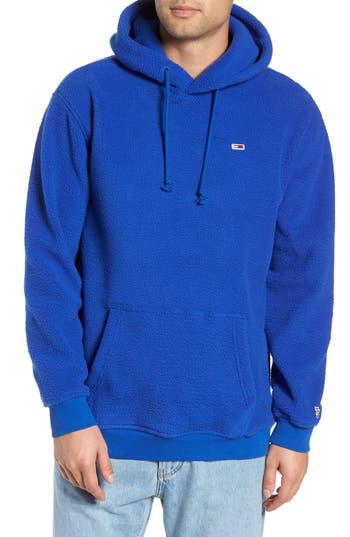 TOMMY JEANS Classics Fleece Hooded Sweatshirt in Surf The Web