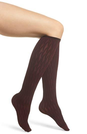 Origami Knee High Stockings, Barolo