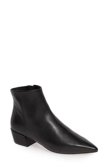 Linea Paolo Rhys Pointy Toe Bootie, Black