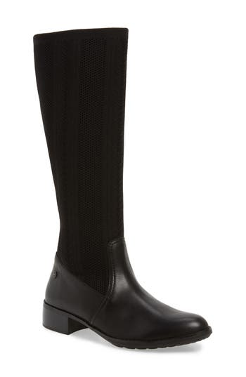 Aetrex Belle Sock-Knit Shaft Boot, Black