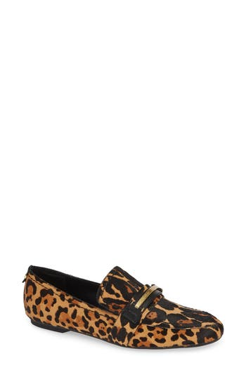 Orianna Genuine Calf Hair Loafer, Leopard Calf Hair